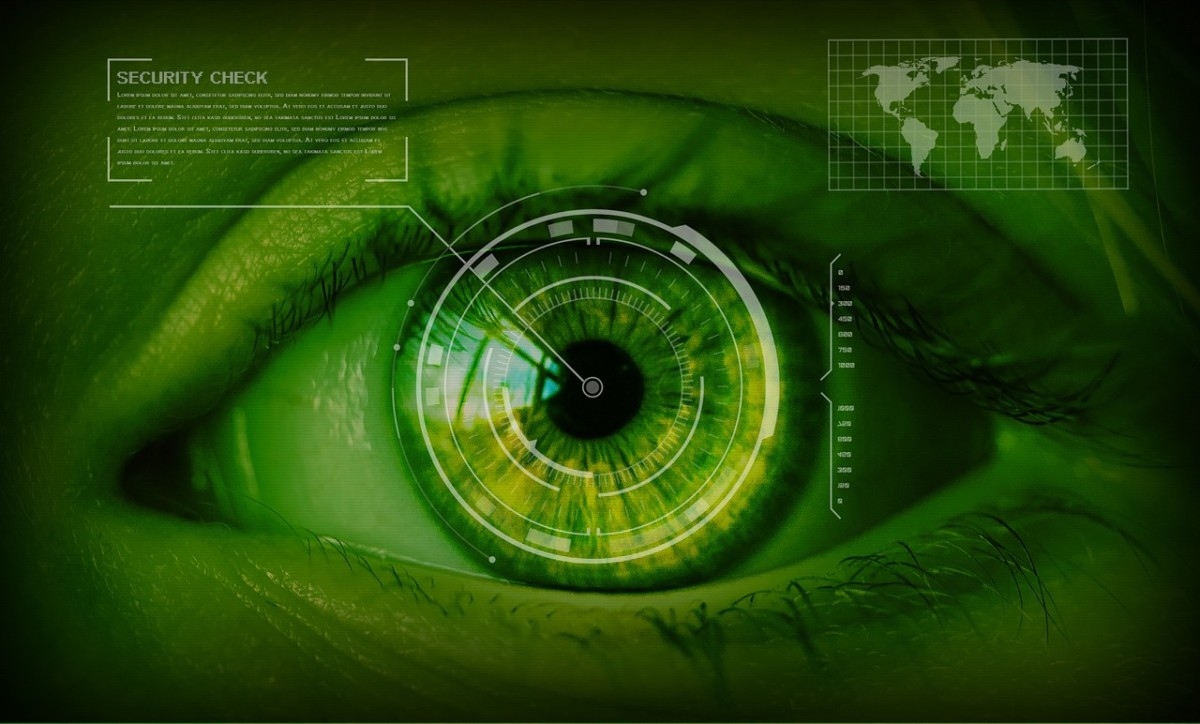 Iris Scan Safety Concept Security Eyes