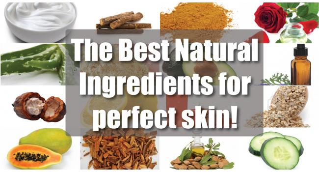 best natural ingredients for skin