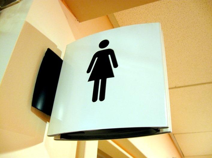 bathroom ladies sign